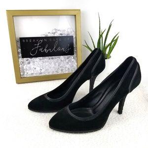 Burberry black suede rubber heels